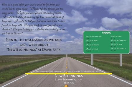 New Beginnings Lg Flyer